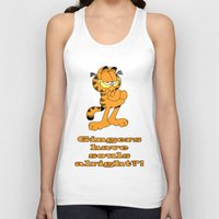 garfield Tank Tops featuring Garfield gingers have souls by Création Numérique du Rocher