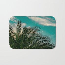 Palms on Turquoise - II Bath Mat