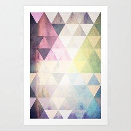 Geometric Groove Art Print