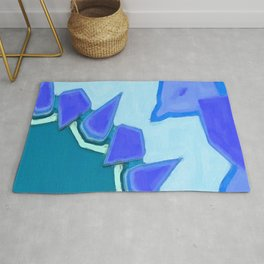 Jagged Tooth Teal Rug