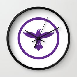 Dove Spreading Wings Circle Wall Clock
