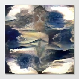 Cloudy Xray Mandala Canvas Print