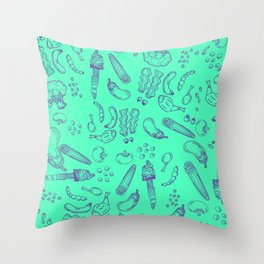 Less Meat Pattern Throw Pillow
