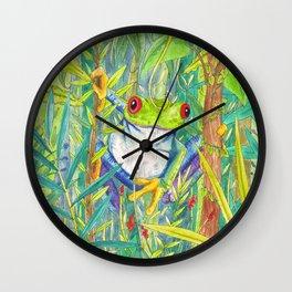 The hidden Frog Wall Clock