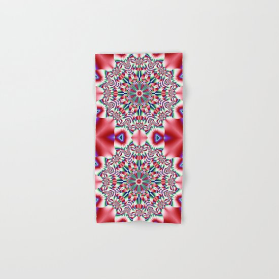 Decorative colourful patterns in a kaleidoscope design Hand & Bath Towel