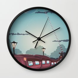 Train to the Moon Wall Clock