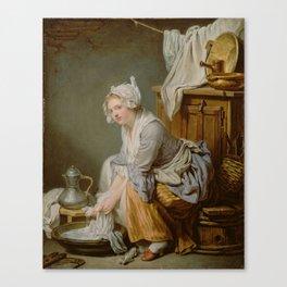 Jean-Baptiste Greuze The Laundress Canvas Print