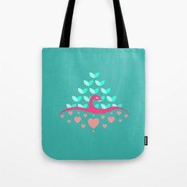 Be Beautiful - Be Colourful Peacock Tote Bag