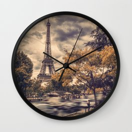 La Tour Eiffel_01 Wall Clock