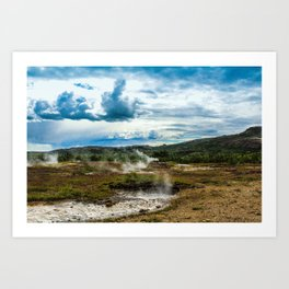 Sulfuric Pools Art Print