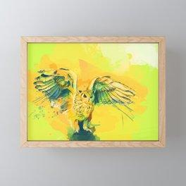 Silent Wings - Owl painting Framed Mini Art Print