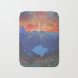 Forest Sunset Over Blue Mountains Bath Mat