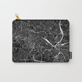 Rome Black Map Carry-All Pouch