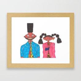 Gerald and Numbah 5 Framed Art Print