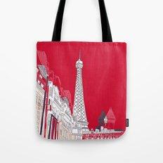 Glorious Paris - Red Tote Bag