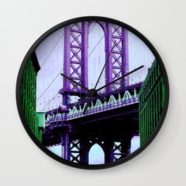 Purple bridge Wall Clock