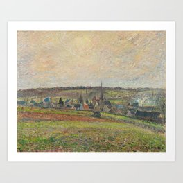 Camille Pissarro - View of the Village of Éragny Art Print