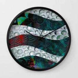 Sea Foam Wall Clock