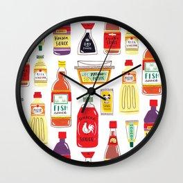 Asian Seasonings Wall Clock