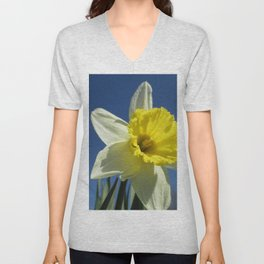 Daffodil Out of the Blue Unisex V-Neck