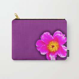 Pink flower on a wintry background Carry-All Pouch