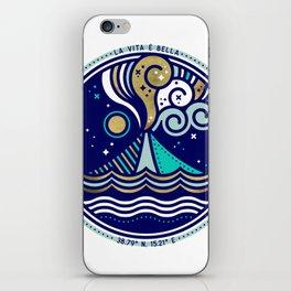 La Vita è Bella – Mediterranean Volcano in Turquoise & Gold Palette iPhone Skin