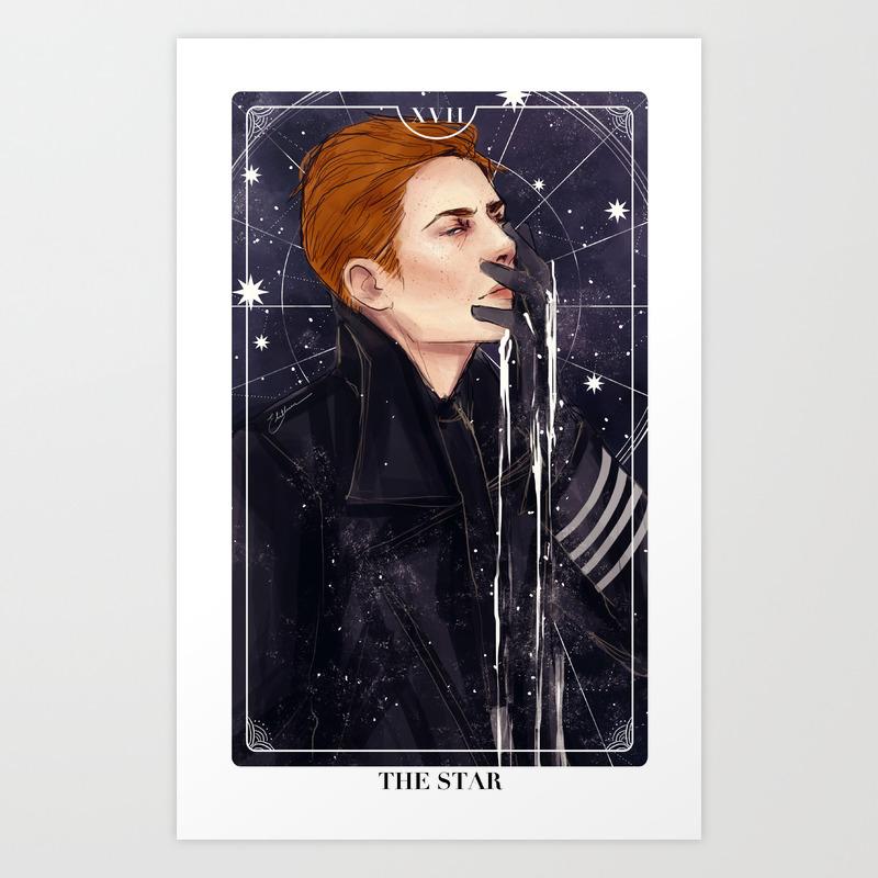 The Stars: General Hux Art Print by Dollyribbon PRN6068828