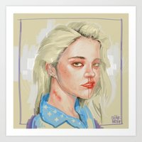 rebel Art Prints featuring REBEL by Cloakwork