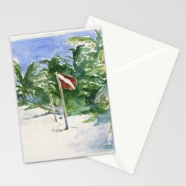 Beach, Tulum, Mexico Stationery Cards
