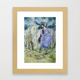 Spirit of the wood original watercolor painting Framed Art Print
