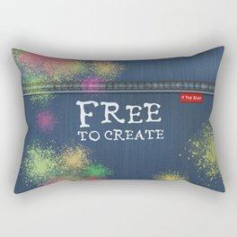 Denim Jeans - Free To Create Rectangular Pillow