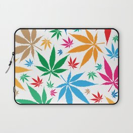 marijuana leaf color pattern Laptop Sleeve