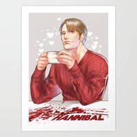 hannibal Art Prints featuring Hannibal by Drag Me To Work