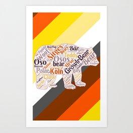 Gay bear art queer gift idea bear pride season  Art Print