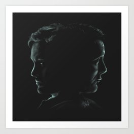"""Hannibal & Will - """"You and I have begun to blur"""" Art Print"""