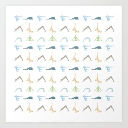 Power of yoga on the mind, body and soul Art Print