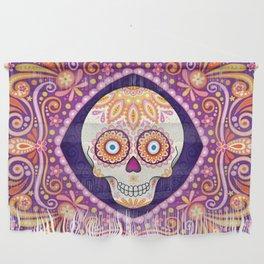 Cute Sugar Skull - Day of the Dead Skull Art by Thaneeya McArdle Wall Hanging