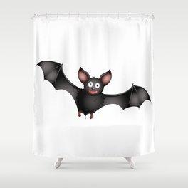 cartoon bat Shower Curtain