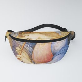 Angel Gabriel Antique Spiritual art Fanny Pack