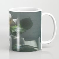 lost in translation Mugs featuring White Rose Translation by DebS Digs Photo Art