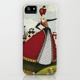 Off with their heads Queen of hearts from Alice in Wonderland iPhone Case