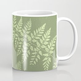 Dark olive fern Coffee Mug