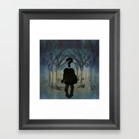 Into the wild. Question series  Framed Art Print