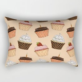 Cupcake Pattern Rectangular Pillow