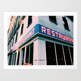 The Seinfeld Restaurant  Art Print