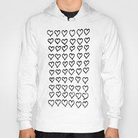 hearts Hoodies featuring Hearts  by Geryes