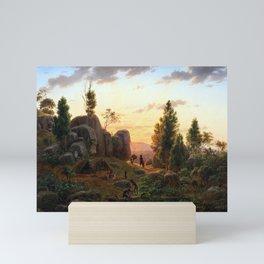 Eugene von Guerard Stony Rises, Lake Corangamite Mini Art Print