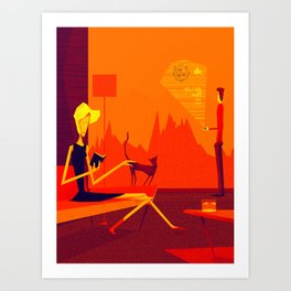 Welcome to mars Art Print