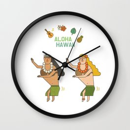 ALOHAWAII Wall Clock