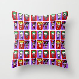 Joker and Quinn  Throw Pillow